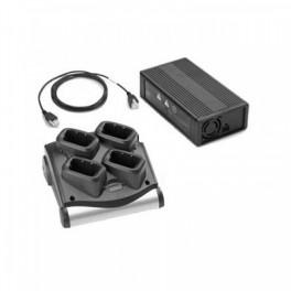 SAC9000-4001ES - Caricabatterie a 4 Posizioni per Terminale Motorola Zebra MC9090-G, MC9190-G & MC92N0-G - Include Alimentatore