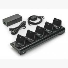 CRD-MPM-5SCHGEU1-01 - Cradle / Culla a 5 Posizioni per Stampante Zebra ZQ320 - Include Alimentatore