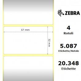 3006324 - Etichette Zebra F.to 57x32mm Z2000T con Zigrinatura