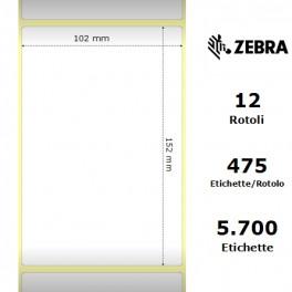 800294-605 - Etichette Zebra F.to 102x152mm Z1000T - con Zigrinatura